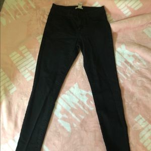 Forever 21 Black Crop Pants Ankle Pants